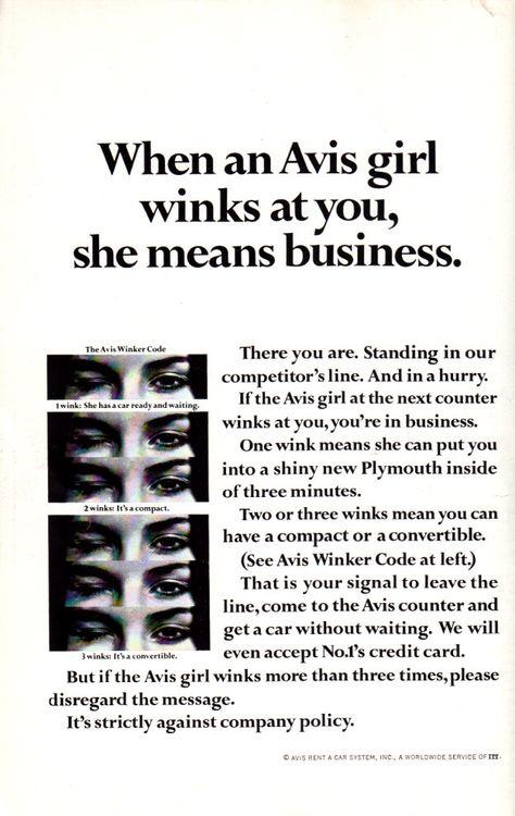 10 Vintage Avis Ads Ideas Avis Ads Copy Ads