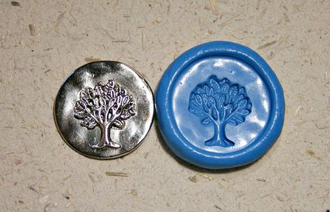 Tree, 2 molds in 1, flexible silicone jewelry  push mold, for charm, polymer clay, metal clay, candy, craft and more ( m174). $4.99, via Etsy.