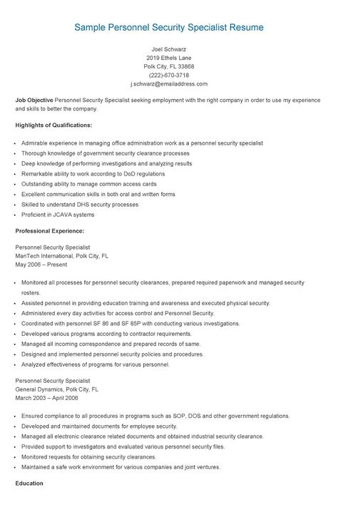 Sample Regulatory Affairs Specialist Resume resame Pinterest - it specialist resume