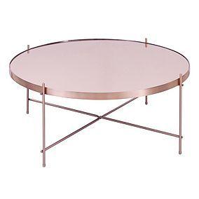 Oakland Circular Copper Coffee Table Interiors In