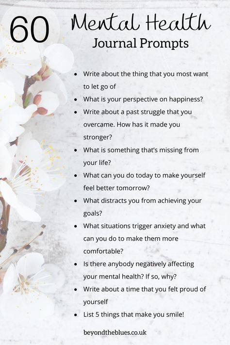 These mental health journal prompts are great for coping with depression and anxiety. Also, good for self love and self-care! #mentalhealth #journaling