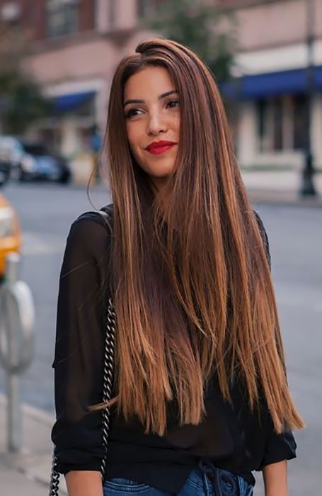 Trendy Long Hairstyle In 2020 Long Hair Trends Long Straight Hair Straight Hairstyles