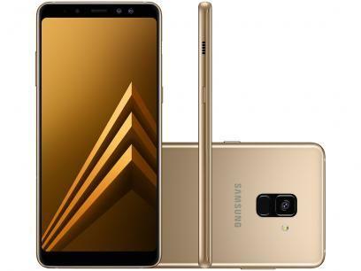 Smartphone Samsung Galaxy A8 64gb Dourado Dual Chip 4g Cam 16mp Selfie 16mp 8mp Tela 6 Com As Melhores Condicoes Voc Samsung Galaxy Samsung Smartphone