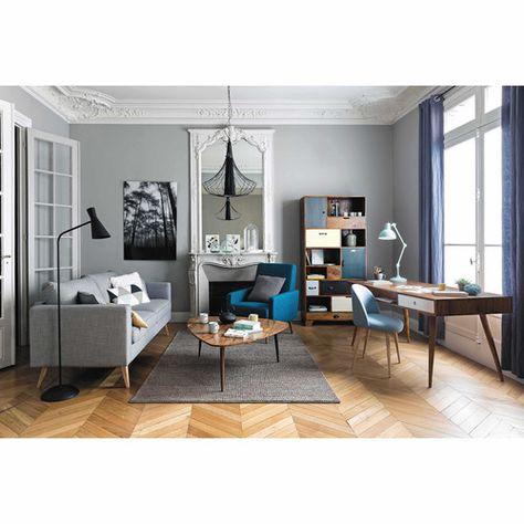 Canape 3 Places En Tissu Gris Clair Brooke Maisons Du Monde Idee Deco Salon Deco Salon Deco Maison
