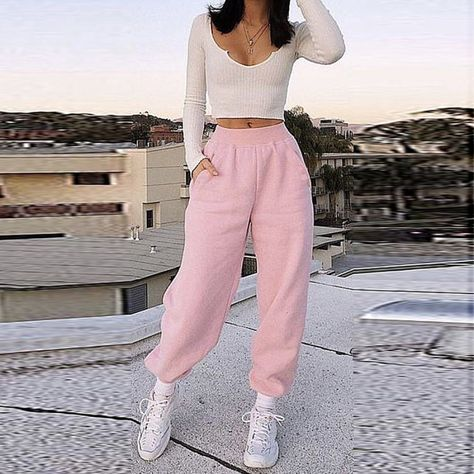 Casual Solid Color Loose Sweatpants