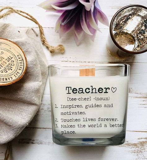 Soy Candle Teacher Candle Teacher Gift Back To School Gifts For Teachers Teacher Appreciation Teacher Gifts For Teacher Personalized Teacher - As Pictured / Leather