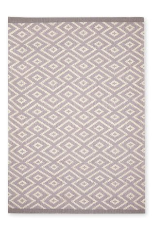 Wool Blend Diamond Geo Rug From The