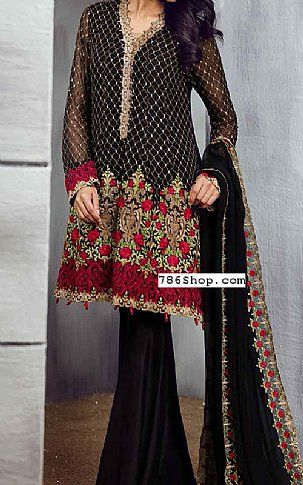 22340e7451a6 Black Chiffon Suit | Buy Iznik Pakistani Dresses and Clothing online in USA,  UK