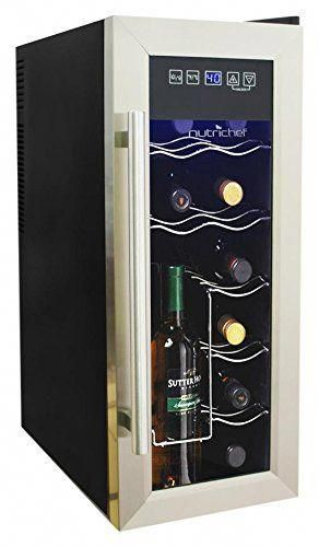 Nutrichef 12 Bottle Thermoelectric Wine Cooler Chiller Counter