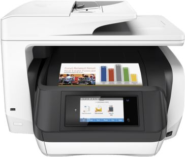 HP OfficeJet Pro 8720 Wireless All In One Instant Ink Ready Printer Functionality Built LAN Prints Up To 24 ISO Ppm Black