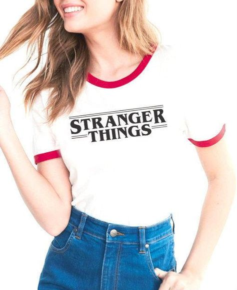 Stranger Things Fashion Print Funny Fitness Women T-Shirt Character Design Hipster Long Sleeve, A / M