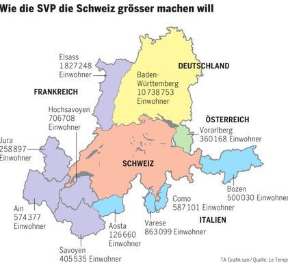 Greater Switzerland Map Infographic Map Cartography