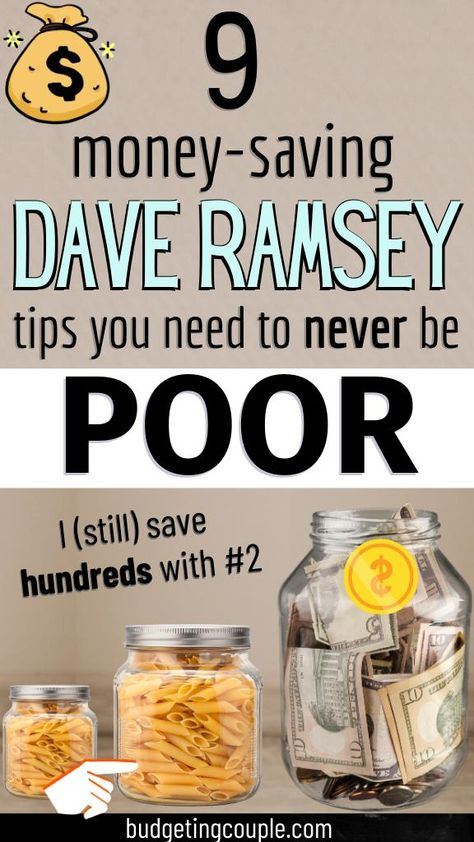 9 Essential Dave Ramsey Tips You Need to Never be Poor