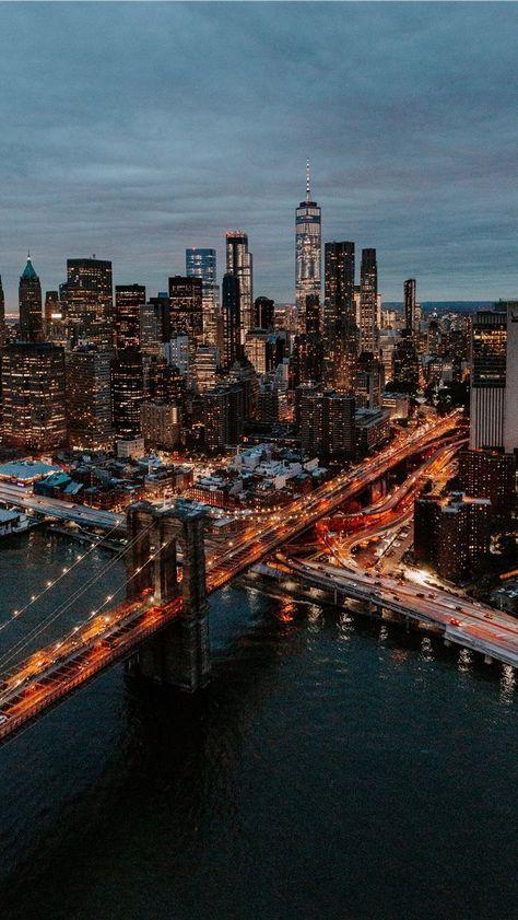 Bridge Wallpaper, New York Wallpaper, City Wallpaper, City Photography, Aerial Photography, Landscape Photography, City Aesthetic, Travel Aesthetic, Blue Aesthetic