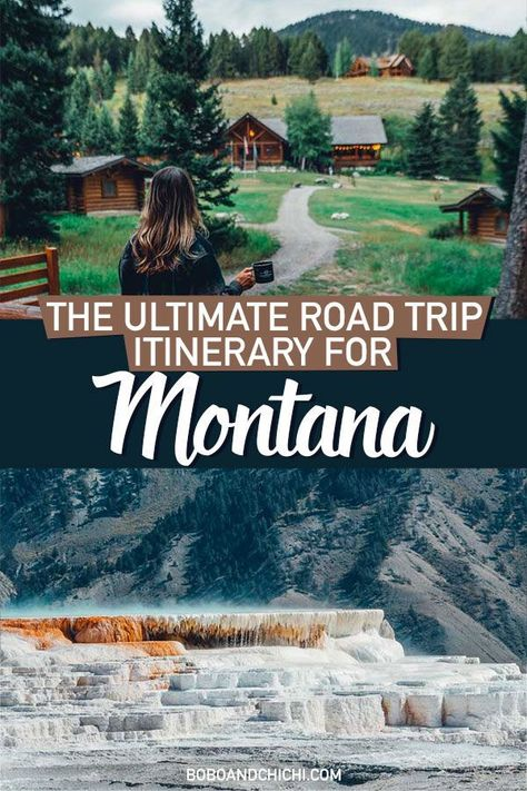 Best Places to Visit in Montana Day Montana Road Trip) - Bobo and ChiChi Our Montana road trip takes you through some of the best places to visit in Montana including Yellowstone National Park, Glacier National Park, and more. Arizona Road Trip, Cool Places To Visit, Places To Travel, Places To Go, Vacation Places In Usa, Italy Vacation, New York Tourist, Road Trip Van, Yellowstone Nationalpark
