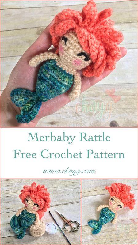 Merbaby Rattle, Free Crochet Pattern | Amigurumi World | Pinterest