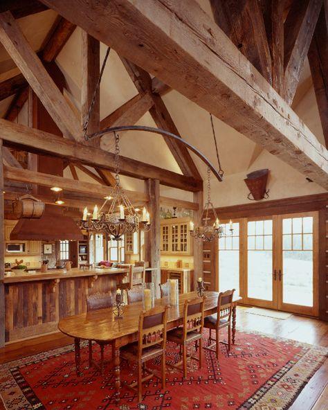 Western Homestead Ranch dining room designer Lynne Barton Bier