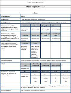 Monthly Report Template  My Work    Template And