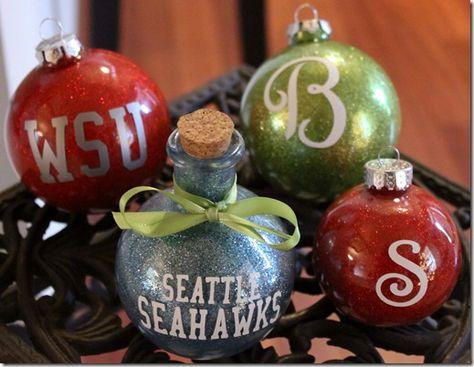 Make glitter ornaments!