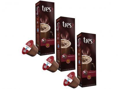 Capsula De Cafe 3 Coracoes Chocolatto 30 Unidades Com As