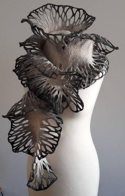 Nuno Felting, Needle Felting, Textiles Sketchbook, Felt Gifts, Body Adornment, High Art, Clothes Crafts, Fabric Manipulation, Felt Art