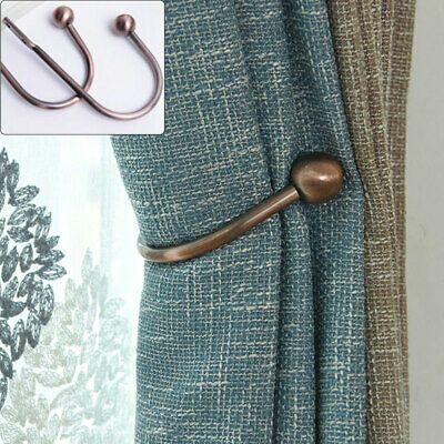 2pcs Metal Curtain Tie Ring Back Hook Hold Backs Ball End Modern Design Best