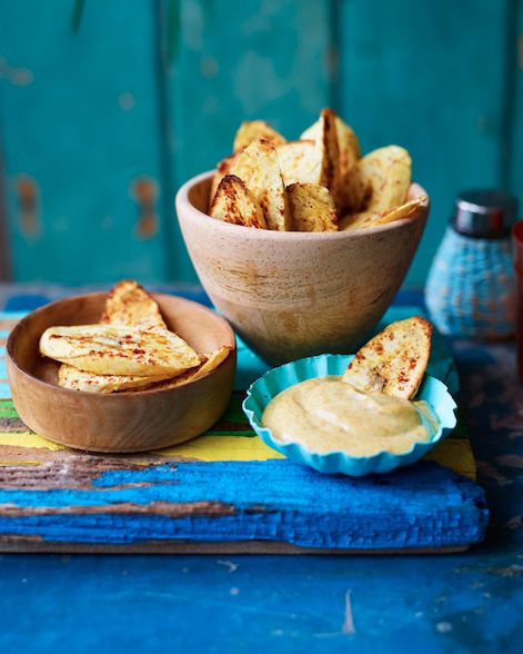 Plantain Chips With Spicy Mayo