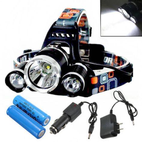 50000LM LED Headlamp XM-L T6 4 Mode USB Headlight Flashlight Head Torch 2*18650