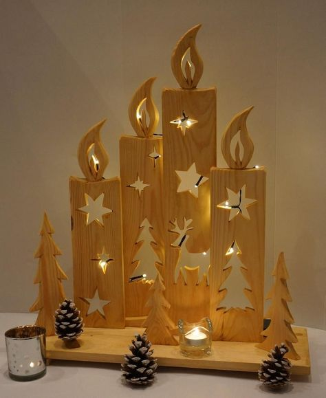 Advent Candles Decoration Gift Gorgeous Handmade Holiday