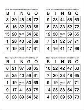 Large Printable Blank Bingo Cards Bingo Card Template Bingo