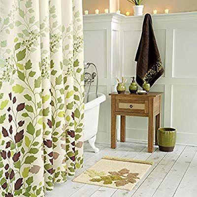 Amazon Com Ds Bath Tulip Tree Green Leaves Shower Curtain Flower