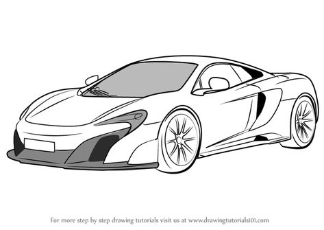 Learn How To Draw Mclaren 675lt Sports Cars Step By Step