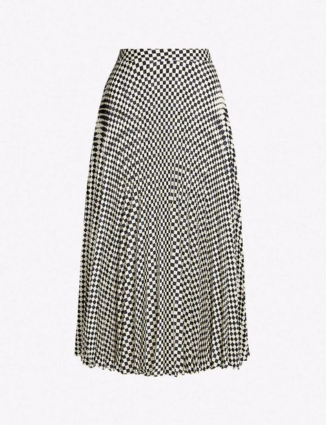 more photos authentic quality on feet images of REISS Abigail checkerboard-printed crepe skirt | Crepe skirts ...