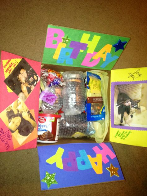 Birthday deployment care package with cake in a jar :)