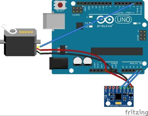 Learn How To Control A Servo Based On The Readings Of An Mpu6050 Accelerometer And Gyroscope Sensor Arduino Arduino Projects Servo Arduino