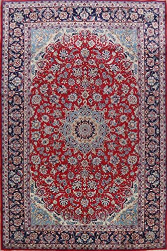 Najafabad Persian Vintage Red Oriental Floral Area Rug Wool Traditional Hand Knotted Carpet 8x12 7 11 X 1 Red Floral Area Rug Wool Area Rugs 9x12 Area Rugs 8 x 12 area rug