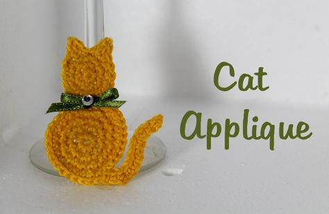 MaryJ Handmade: Tutorial: Gatto all'uncinetto | How to crochet a cat applique