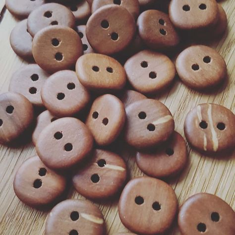 Eco friendly buttons 1-1.2 Buttons made of slices Set of 10 rowan wooden buttons Wood buttons