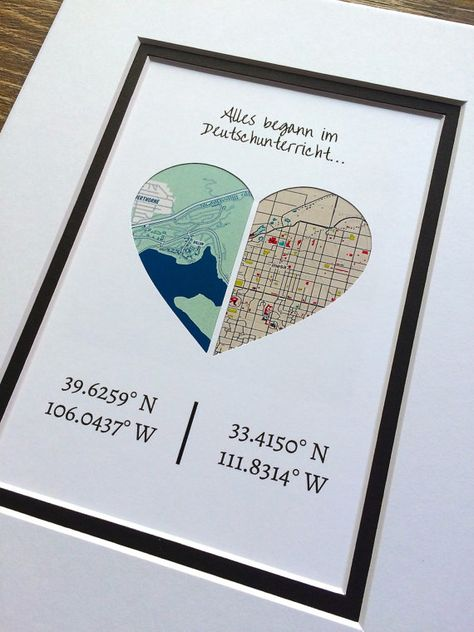 Pick Any Custom Quote Longitude and Latitude Map Art Gift