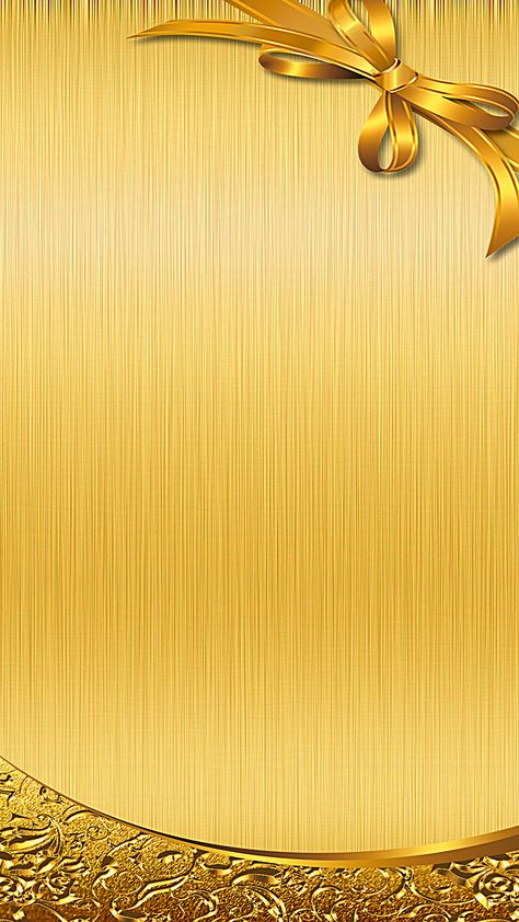 Gold bow h5 background material
