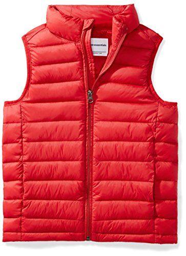 Essentials Boys Light-Weight Water-Resistant Packable Puffer Vest