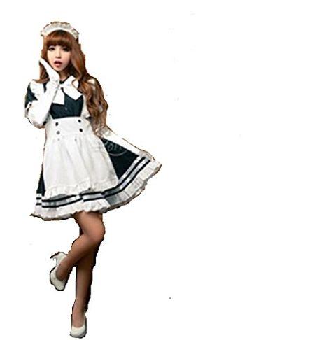 Mocona Womens Anime Cosplay French Apron Maid Fancy Dress Costume