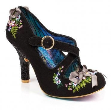 033372346cf Irregular Choice Beryll Blossom 4331-24C Womens Court Shoes - Black ...