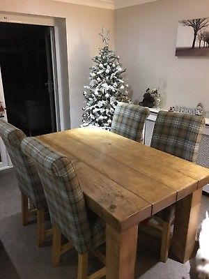 New Beam Dining Table Chunky Rustic