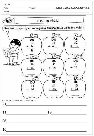 Portugues Atividades Diversas Para O 1º E 2º Anos Adicao E