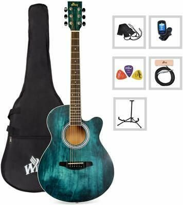 Winzz 40 Inches Cutaway Acoustic Guitar Beginner Starter Guitar For Beginners Acoustic Guitar Guitar