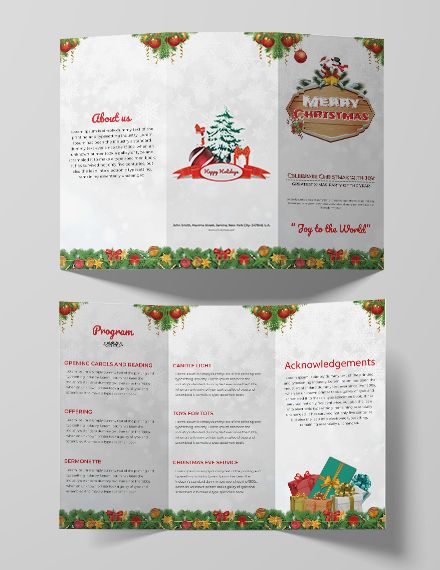 Free Christmas Party Tri Fold Brochure Template Word Doc Psd Apple Mac Pages Publisher Brochure Design Template Trifold Brochure Trifold Brochure Template