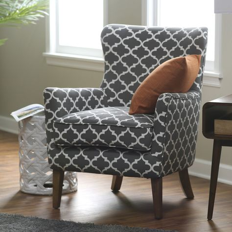 Quatrefoil Arm Chair Arm Chairs Living Room Patterned Chair