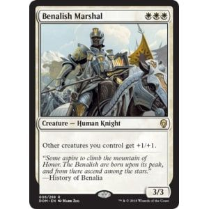 1x FOIL Benalish Marshal Near Mint Magic card rare knight standard Dominaria x1