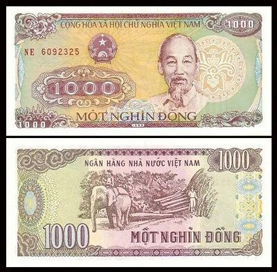 Vietnam 1000 1 000 Dong 1988 P 106 Ho Chi Minh Unc World Currency Ebay In 2020 Bank Notes Currency Design Money Notes
